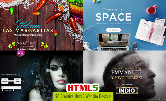 26 Creative and Beautiful Html5 Websites Design examples