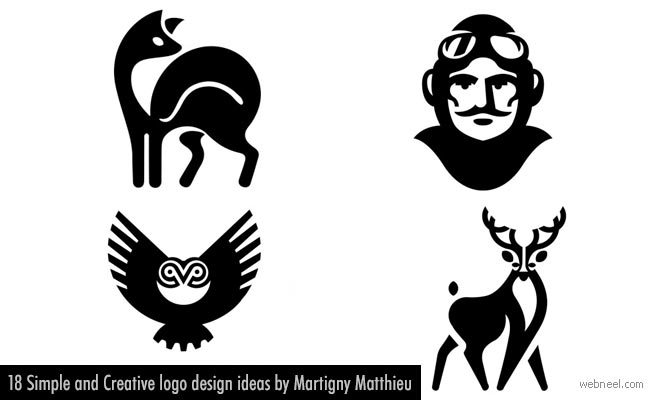 18 Simple and Creative logo design ideas by Martigny Matthieu