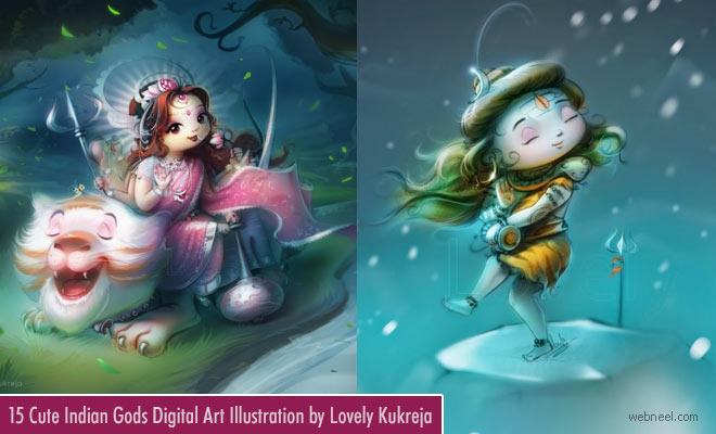 15 Beautiful Indian God Digital Art works and Illustrations by Lovely Kukreja