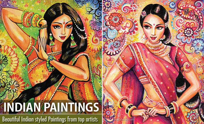 25 Beautiful and Stunning Indian Paintings from top artists
