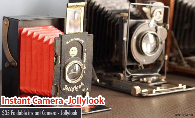 First Cardboard Folding Instant Camera - Jollylook
