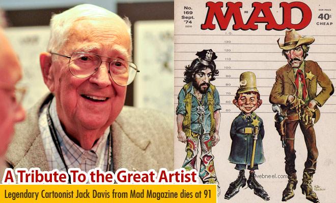 Legendary Cartoonist Jack Davis from Mad Magazine dies at 91, RIP