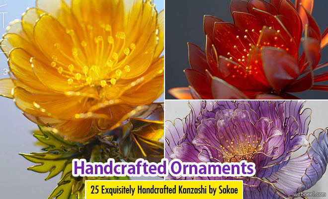 25 Exquisitely Handcrafted Floral Ornaments Kanzashi by Sakae
