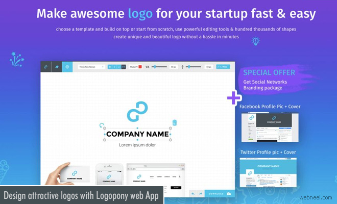 Design your own attractive logos with AI powered web app - Logopony