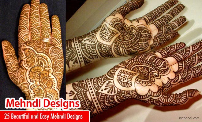 25 Beautiful and Easy Henna Mehndi Designs for every occasion