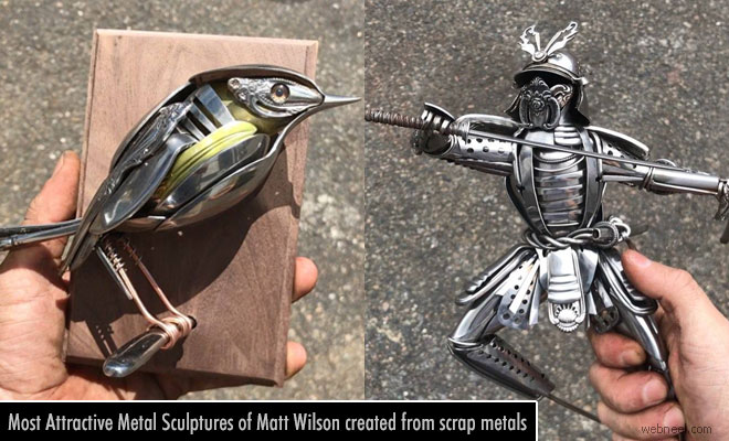 Most Attractive Metal Sculptures of Matt Wilson created from scrap metals