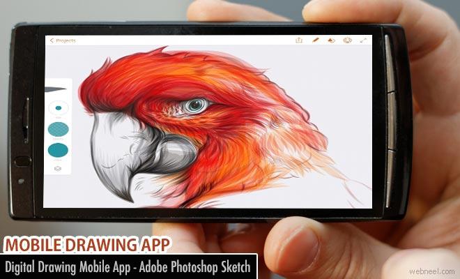 Digital Drawing Mobile App - Adobe Photoshop Sketch