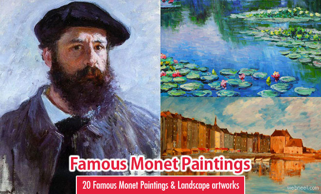 20 Famous Monet Paintings and Landscape artworks