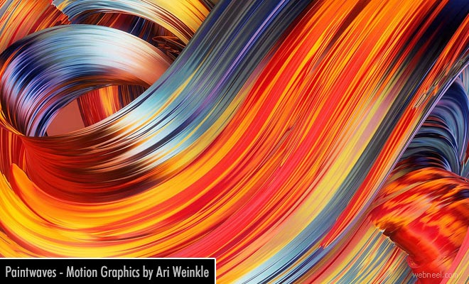 Paintwaves - Abstract and Colorful Motion Graphics Digital Painting by Ari Weinkle