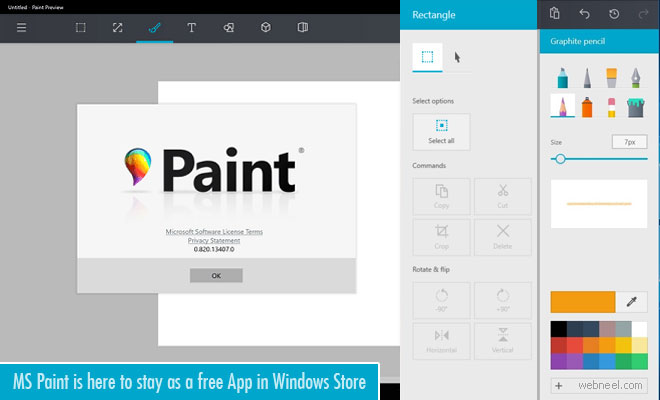 MS Paint has another chance - Available as a free App in Windows Store