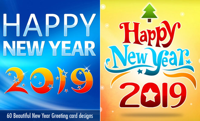 60 beautiful new year greetings card designs for your inspiration new year greetings m4hsunfo Image collections