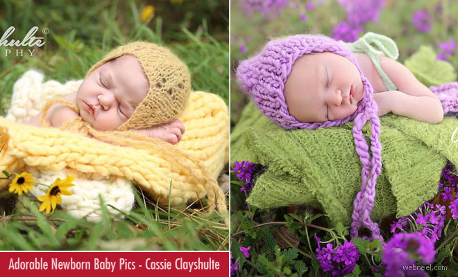 Adorable Newborn Baby Photographs by Cassie Clayshulte