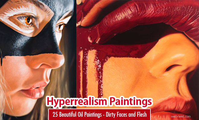 25 Beautiful Hyper Realistic Oil Paintings - Dirty Faces and Flesh by Jkp Fletcher