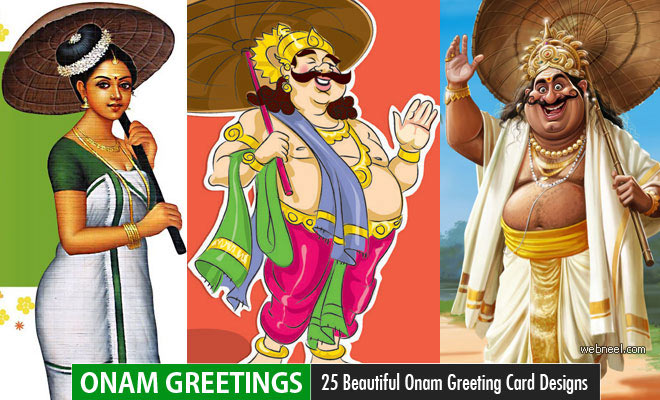25 Beautiful Onam Greeting Card Designs and Onam Wishes Pictures