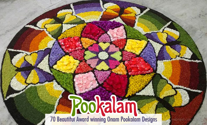 70 Beautiful Award Winning Onam Pookalam Designs