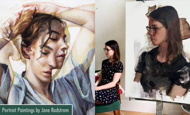 Stunning Portrait Paintings with Photographic Effects by Jane Radstrom