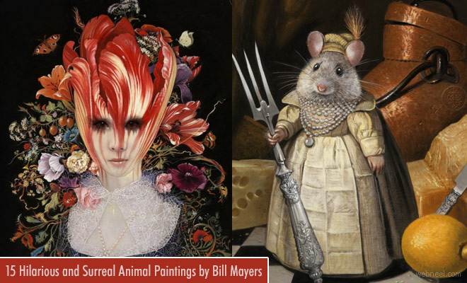 15 Hilarious and Surreal Animal Paintings and Artworks by Bill Mayers