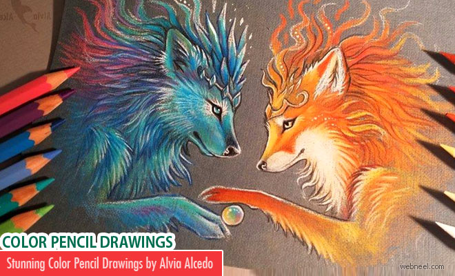 20 Stunning Color Pencil Drawings and illustrations by Alvia Alcedo