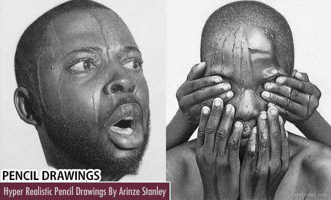 15 Stunning Hyper realistic Pencil Drawings by Arinze Stanley