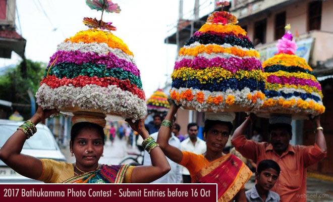 Photo Contest India Bathukamma Festival 2017 - entries before 16 Oct