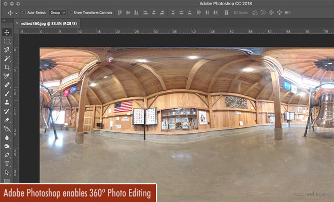 Adobe's new update for Photoshop CC enables 360 degree image editing