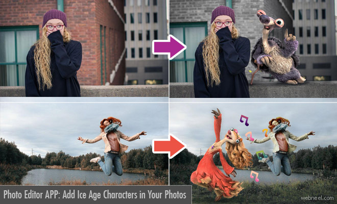 Photo Editor App - Chill With Your Favorite Ice Age Characters in Your Photos