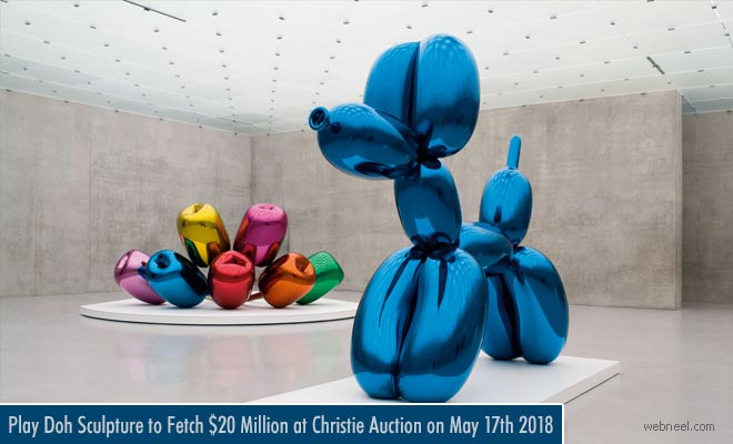 Aluminium Play Doh Sculpture to fetch $20 Million for artist Jeff Koons - Sculpture exhibition