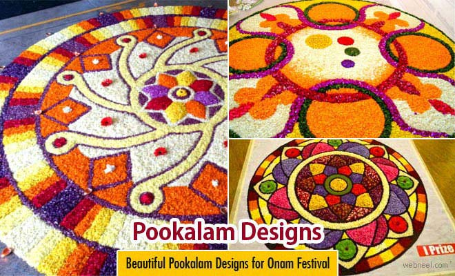 Part 2 - 25 Most Beautiful Pookalam Designs for Onam Festival
