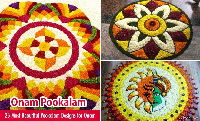 60 Most Beautiful Pookalam Designs for Onam Festival - part 3