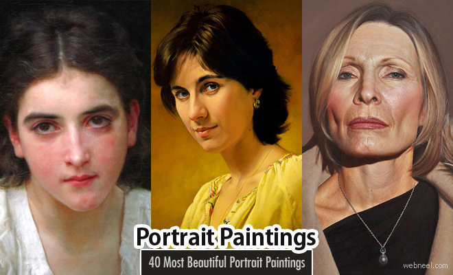 40 Most Beautiful Portrait Painting works from around the world - part 2