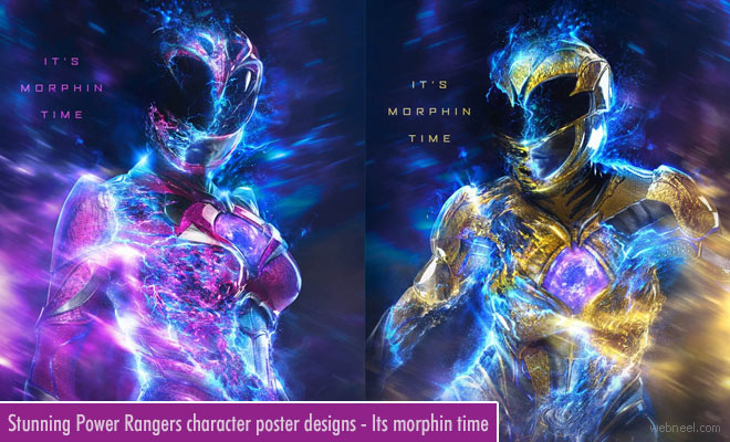 Stunning Poster Designs with Power Ranger characters by Chris Christodoulou