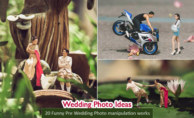 20 funny pre wedding photography ideas and photo manipulations