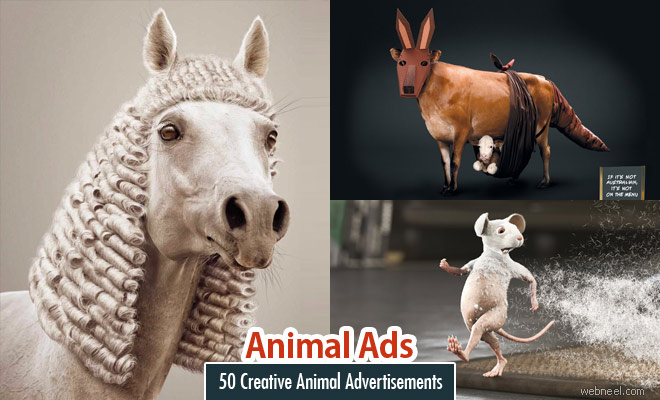 21 Animal themed Print Advertisements and print ads inspiration for you