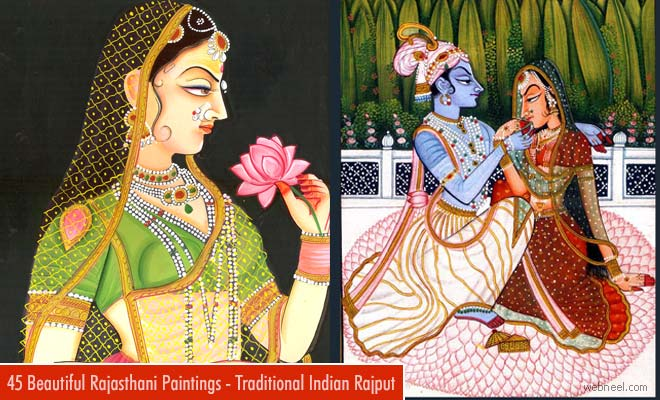 45 Beautiful Rajasthani Paintings - Traditional Indian Rajput Paintings - part 2