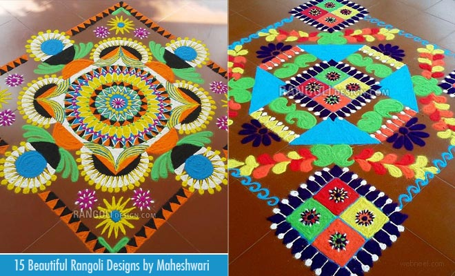 15 Beautiful Rangoli Designs from Tamilnadu rangoli artist Maheshwari
