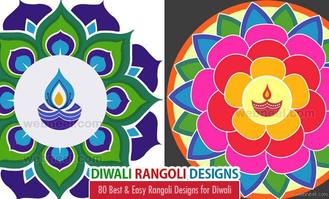 80 Best and Easy Rangoli Designs for Diwali Festival 2017