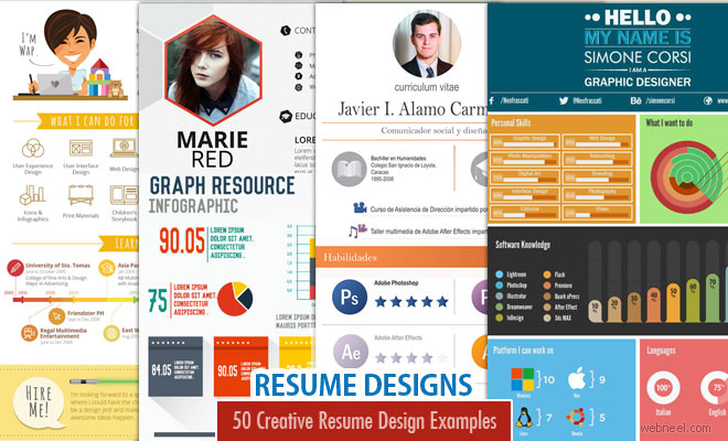 Resume Designs  Resume Design Inspiration