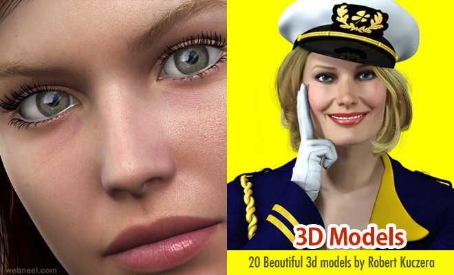20 Beautiful 3D Models from Robert Kuczera's 3D Characters Animation Studio