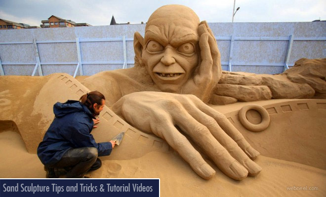 How to build a sand sculpture - Tutorial Videos and Tips for beginners