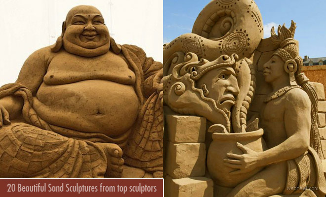 20 Incredible and Beautiful Sand Sculptures from top sculptors