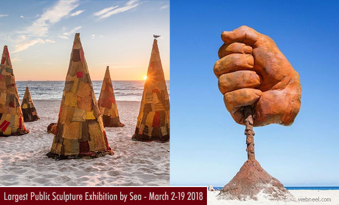 Largest Australian Sculpture Exhibition by Sea - March 2-19 2018