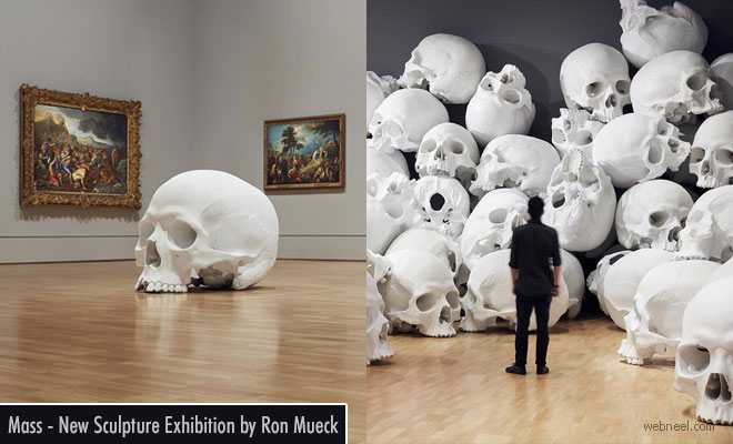 100 Human Resin Skulls Floods the National Gallery of Victoria in Melbourne