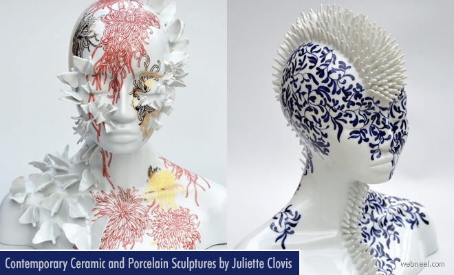 Surreal Ceramic and Porcelain Sculptures by Juliette Clovis