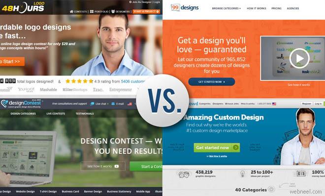 Top Logo Design Contest Website Review -48hourslogo vs 99designs vs ...