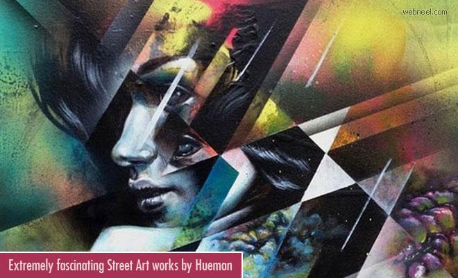 Extremely fascinating Street Art works of californian artist Hueman
