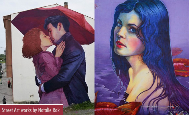 Mind-blowing Street Art works by Polish artist Natalie Rak