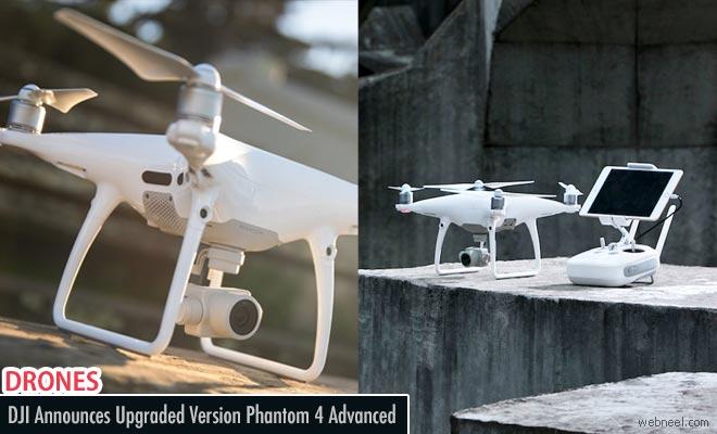 DJI announces its new Drone Camera Phantom 4 advanced