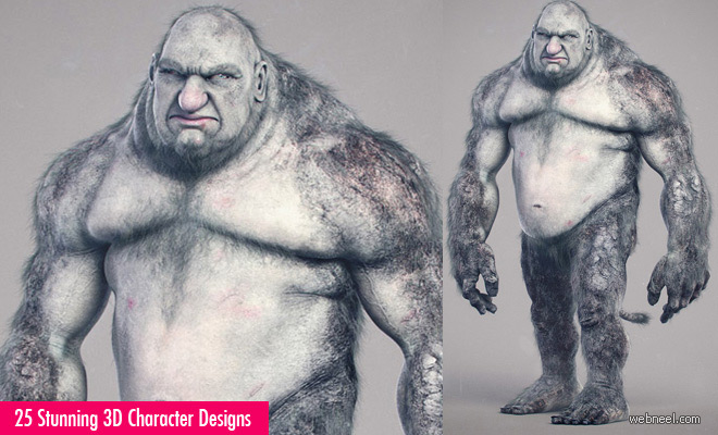 25 Stunning 3D Monsters and 3D Character Designs by Adam Sacco