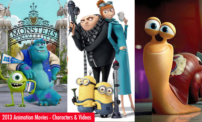 2013 Animation Movies - Monsters University, Despicable Me2 and Turbo