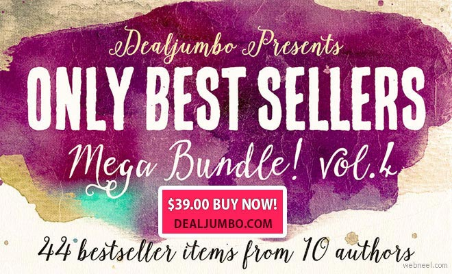 44 bestseller items from 10 premium design shops - Dealjumbo Mega Bundle